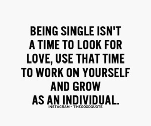 quotes, single, and love image