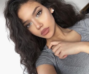 curls, pretty, and eyebrows image