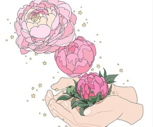 hand, roses, and white image