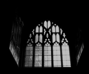 aesthetic, black and white, and church image