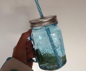 blue, glass, and lemon image
