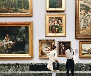 art, museum, and girl image