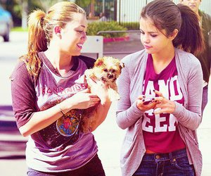 selena gomez, miley cyrus, and friends image
