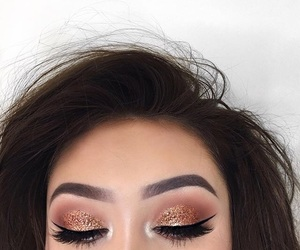 makeup, eyebrows, and hair image