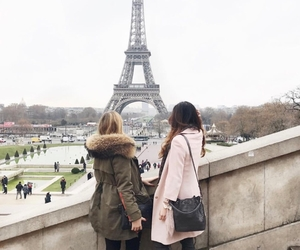 travel, eiffel tower, and paris image