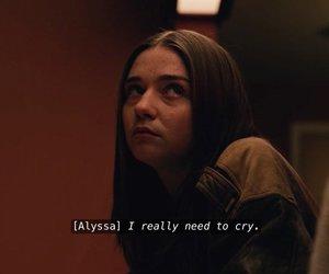 Alyssa, teotfw, and sad image