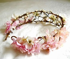 crown, flowers, and pastel image