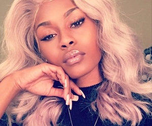 blonde, frontal, and wig image
