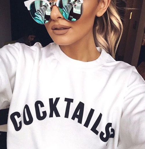 Cocktails, sunglasses, and sweater image