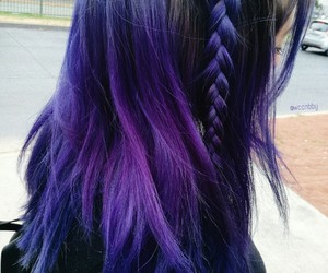 blue hair, braids, and colorful hair image