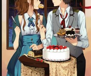 horimiya, cake, and couple image