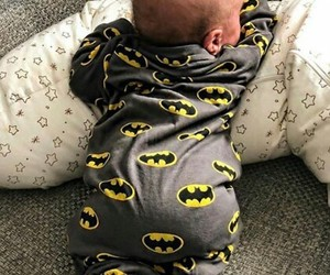 baby, batman, and clothes image