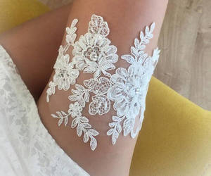 etsy, ivory lace garter, and ivory toss garter image