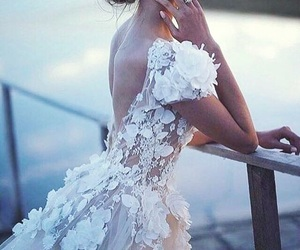 fashion, dress, and bride image