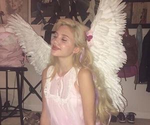 angel, girl, and pink image