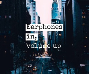 music, volume, and quote image