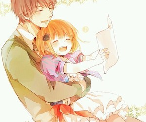 anime, daddy, and daughter image