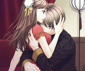 anime, couple, and married image