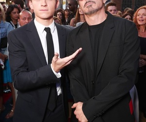 robert downey jr, iron man, and Marvel image