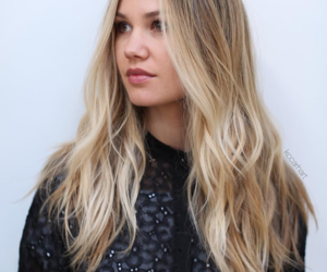 blonde, brown, and hair image