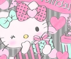 happy birthday and hello kitty image