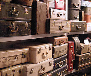 vintage, old, and suitcase image