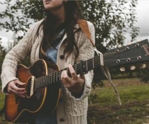 guitar, music, and girl image