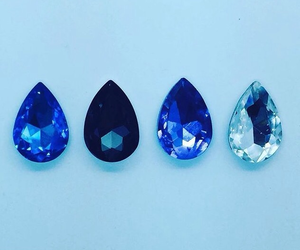 blue, aesthetic, and jewels image