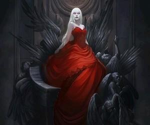angel, demon, and dress image