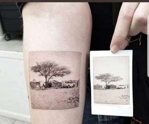 tattoo, artistic tattoo, and landscape tattoo image