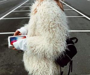 fashion, fur jacket, and cute image