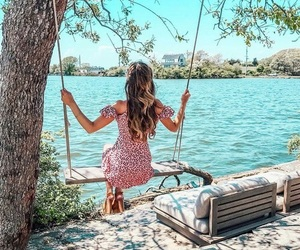 beach, girly, and water image