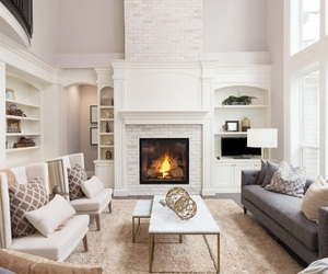 decor, fireplace, and home image