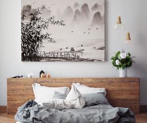 arrangement, bedroom, and design image