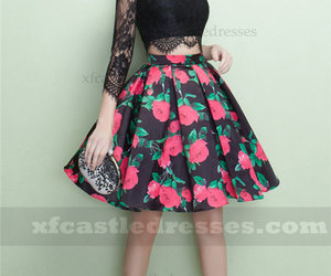 two piece prom dresses, short prom dresses 2018, and short black prom dresses image