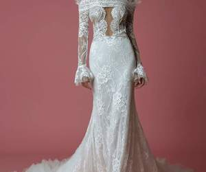 dress, mode, and wedding dress image