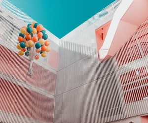 pastel, peach, and archirecture image