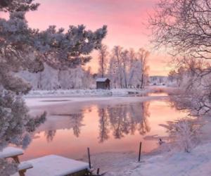 amazing, winter, and lake image