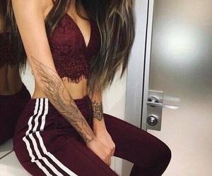 girl, fashion, and tattoo image