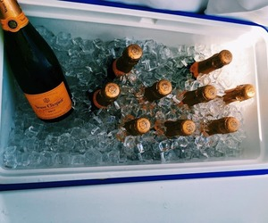 champagne, cooler, and veuve clicquot image