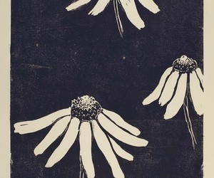 art, artwork, and daisies image