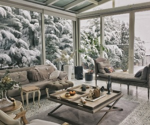 cold, cozy, and house image