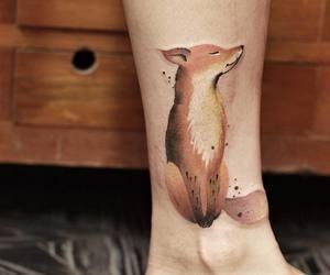 acuarela, fox, and tatoo image