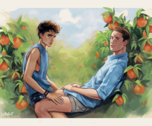 oliver, cmbyn, and art image