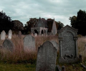 aesthetic, graveyard, and spooky image