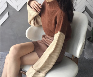 asian, beige, and kfashion image