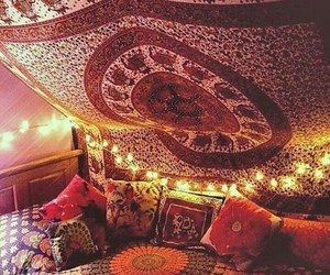 boho, bedroom, and room image