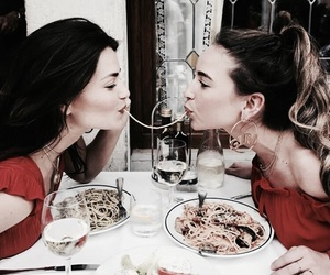 best friends, food, and vogue image