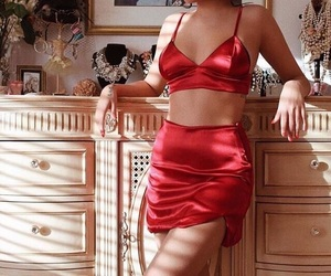 aesthetic, red, and silk image