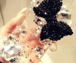 bow, bling, and iphone case image